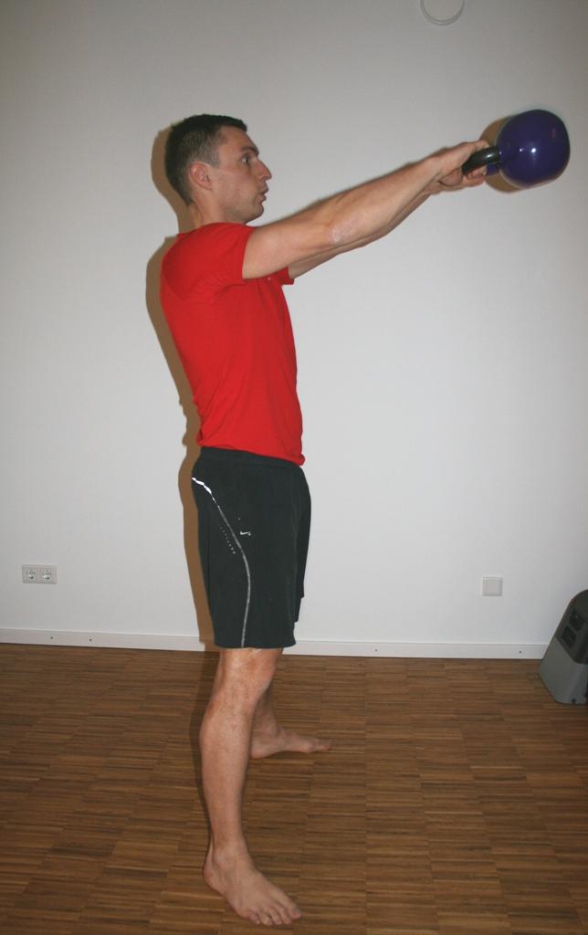 Kettlebell Training Tabata Kettlebell Swing Position oben