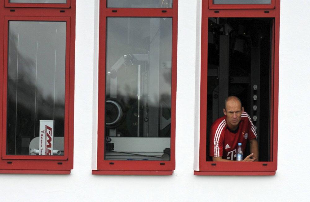 Bayern München – Robben – Athletiktraining; Quelle: Imago