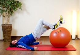 Funktionelles Training für Fussballerinnen - Ausgangsposition dorsale Kette