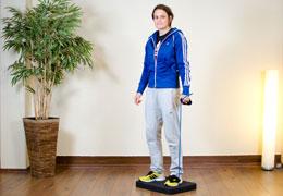 Funktionelles Training für Fussballerinnen - Ausgangsposition Kniebeuge