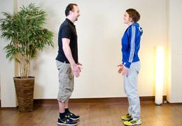 Funktionelles Training für Fussballerinnen - Endposition exz. Kniebeuge