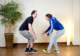 Funktionelles Training für Fussballerinnen - Zwischenposition exz. Kniebeuge