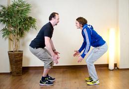 Funktionelles Training für Fussballerinnen - Zwischenposition2 exz. Kniebeuge