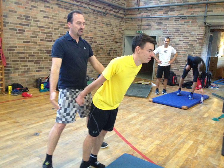 Training mit den Skiadlern