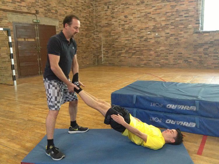 Training mit den Skiadlern - ventrale Kette