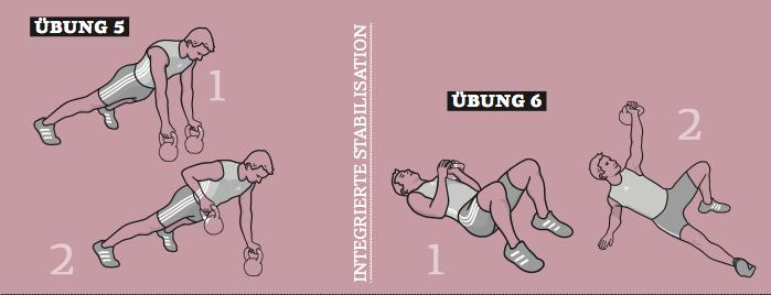 Game over für Crunches - integrierte Stabilisationsübungen