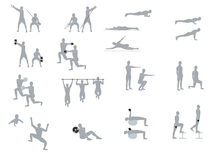 Essentielle Elemente des Functional Trainings miteinander verbinden