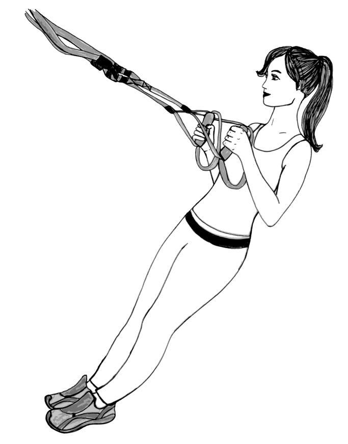 Ruderübung als Schlingentraining