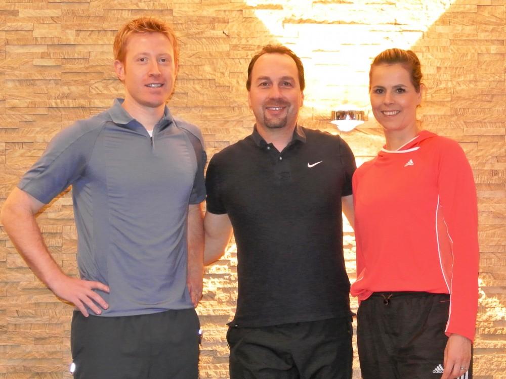 Funktionelles Training für Tischtennis-Spieler - v.l.n.r Christian Süß, Stephan Müller, Elke Schall-Süß