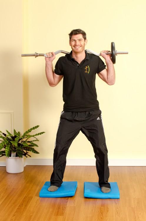 Kniebeuge mit Gewicht - Ausgangsposition