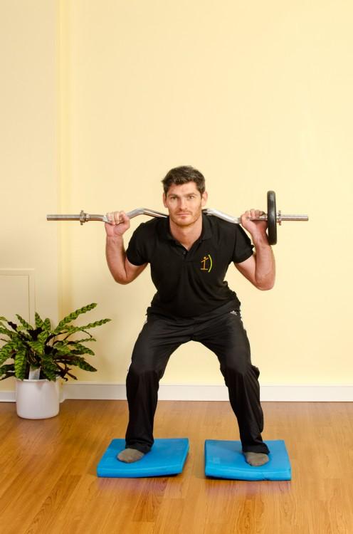 Kniebeuge mit Gewicht - Endposition