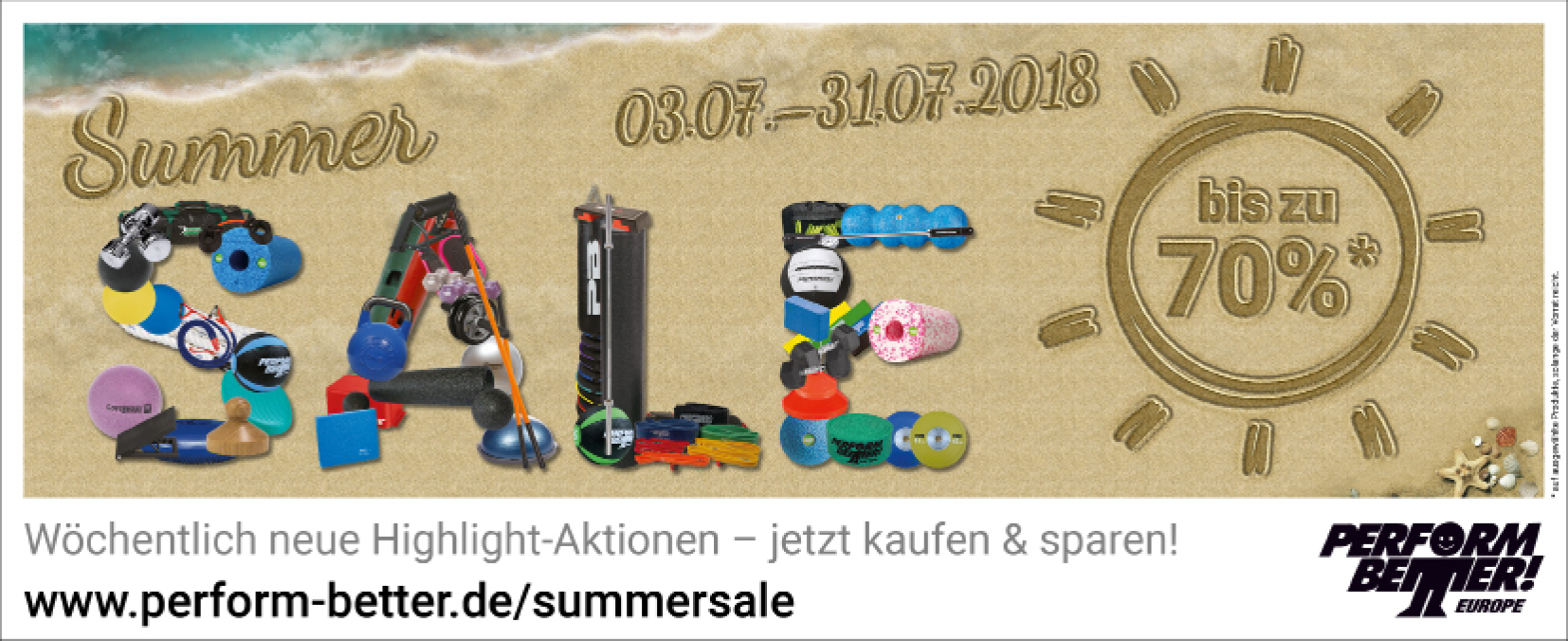 Summer Sale bei Perform Better Europe